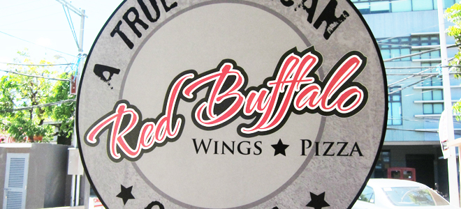 Red Buffalo Wings and Pizza